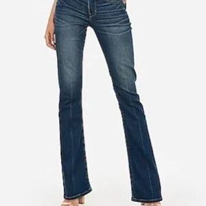 Express Mid Rise Barely Boot Jeans Sz 12L